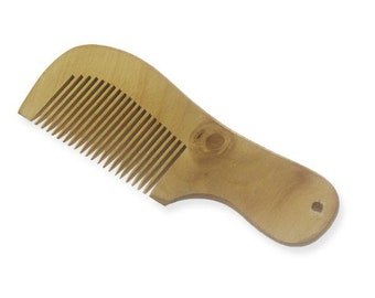 12 Pieces Wooden Comb with Handle