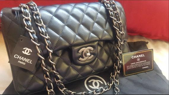 New Black CC Timeless classic medium bag  sac classique moyen noir free shipping  READ DISCRIPTION
