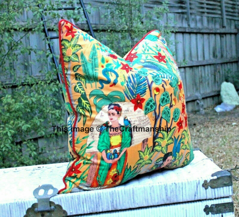 10 PC Lot Of Frida Kahlo Printed Cushion Cover Decor Pillow Covers Wholesale Lot