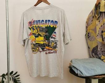 Vermeer firestick underground NAVIGATOR vtg 97 T-Shirt Size XL/ Cotton T-shirt light grey/ site workers graphic t-shirt xl size