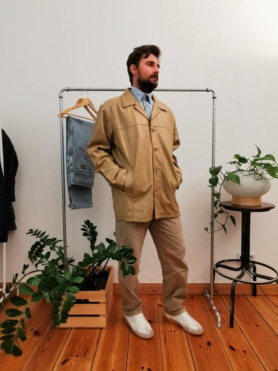 Leder Classic Jackets Beige leather coat 90s  blaz