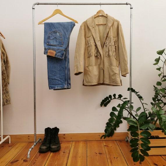 Suede Vintage Fringe Bohemian Jacket 70s 80s Hippi
