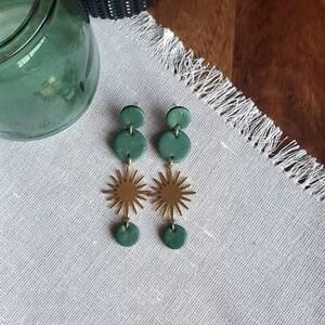 VINOHR-17 Iceland moss Bronze Earrings