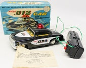 Vintage Scarce Linemar (Marx) quot Agent 012 quot Tin Lithographed Battery Operated Toy Car