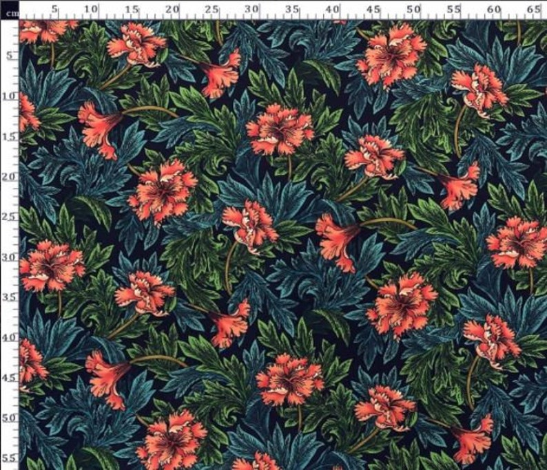 Chenille Fabric Printed Upholstery Fabric Furniture Fabric Canvas Fabric William Morris Fabric Upholstery Fabric Fabric by Yard