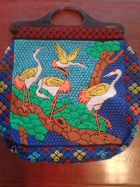 Vintage 1930s Japanese Very Rare IBIS Beaded Bag F