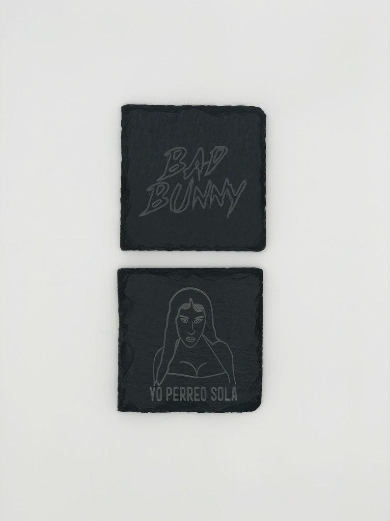 Bad Bunny Laser Engraved Coasters