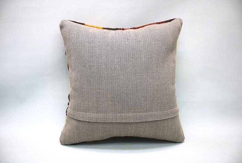 Textured Kilim Pillow Textured Pillow Cover Kilim Pillow Cover 16 x 16 Throw Pillow Hand Made Turkish rug cushion