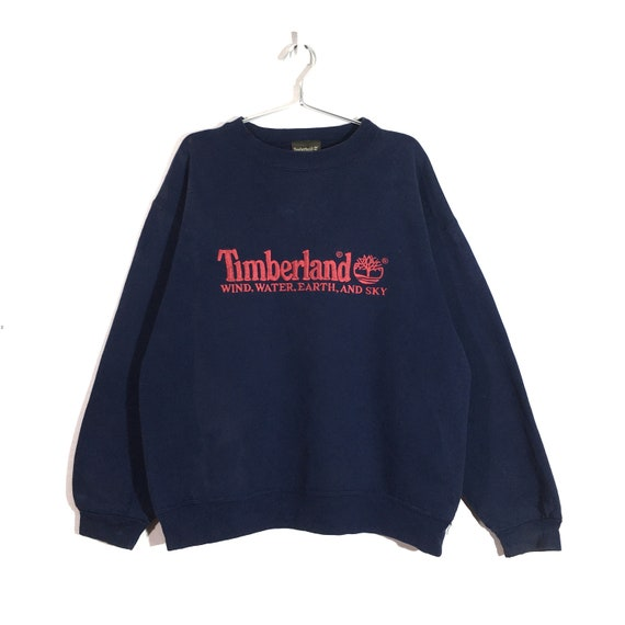 Vintage Distressed Timberland weather gear crewnec