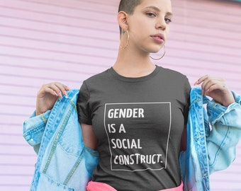 Gender Is A Spectrum Androgynous Style Gender is a Social Construct LGBTQ Graphic Tee Unisex T-Shirt Non Binary Gender Queer