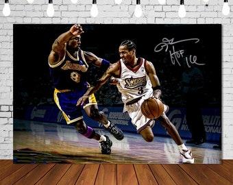 nr Allen Iverson Basketball Sports Works Family Poster Corridor Mural Pintura Decoraci/ón Imprimir en Lienzo 60X90cm Sin Marco