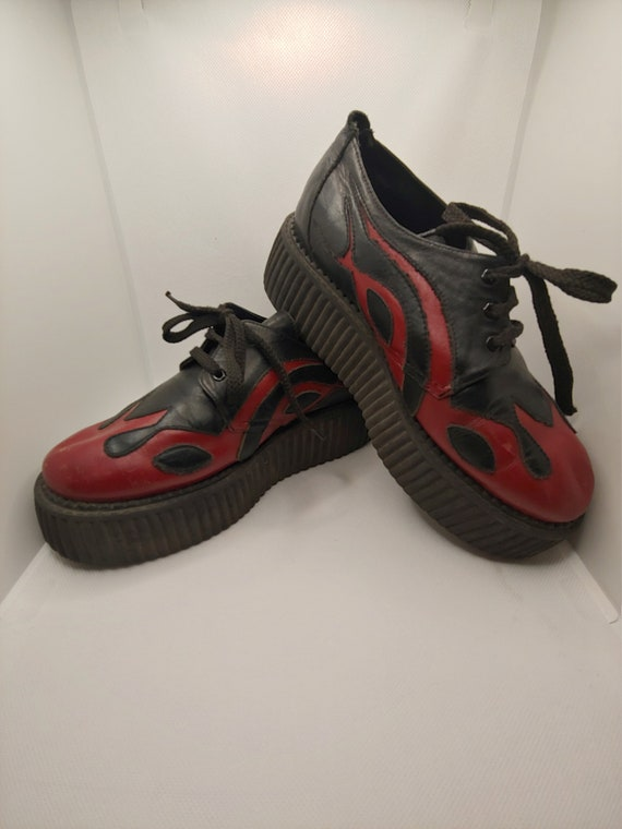 VINTAGE - GUC - N.Y.L.A. Flame Creepers - Size 7.5