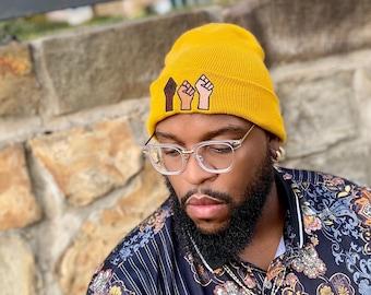 Black lives matter hat for adults and kids, Unisex BLM beanie, Black lives matter beanie, Winter gear, Black lives cap, BLM face mask