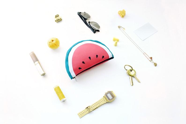 Cards purse Travel bag Coins purse Beach bag Textile case Watermelon purse Makeup purse zipped bag