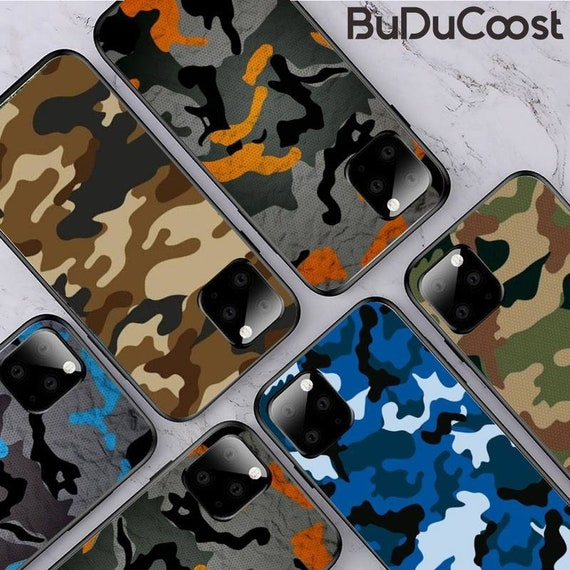 For Apple iPhone 12 12 Pro 12 Pro Max Camo Back Cover Military Pattern Coloured Phone Case