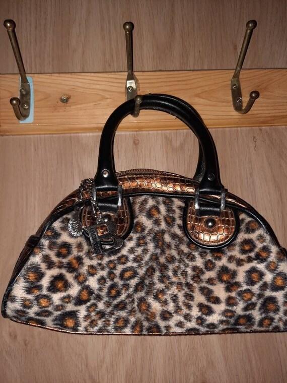 Designer leopard print Bulaggi handbag