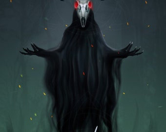 Face your inner demons / Art print A4