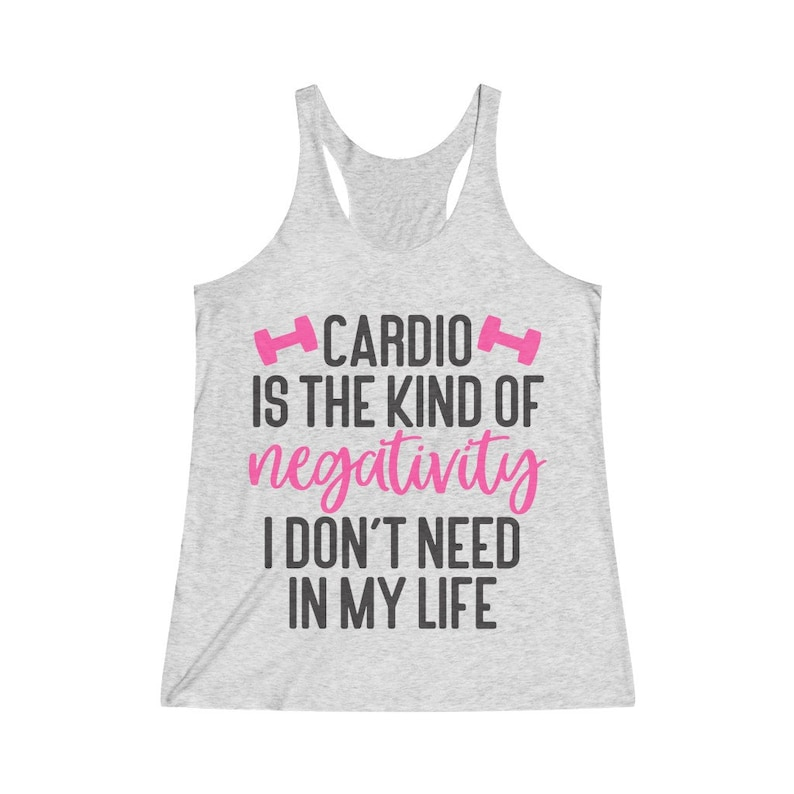 Funny Workout Shirt Gym Quotes Gift for Gym Lover Premium Tees Womens Fitness Shirt Cardio is Hardio Gym Rat Shirt Racerback Womens