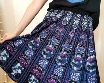 Vintage skirt, 1980's folklore skirt