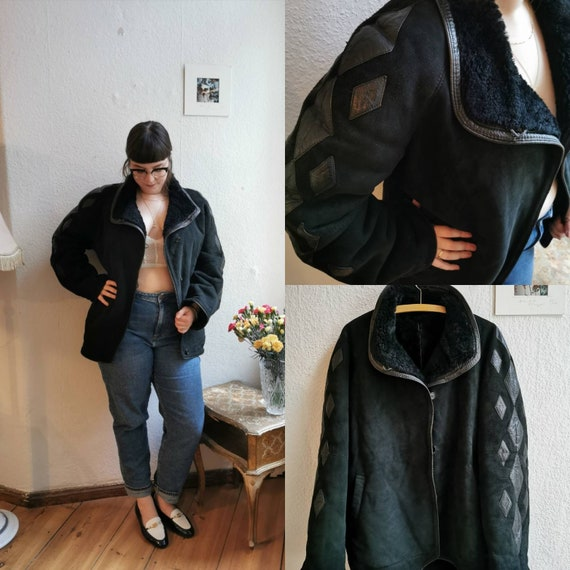 70's suede leather jacket
