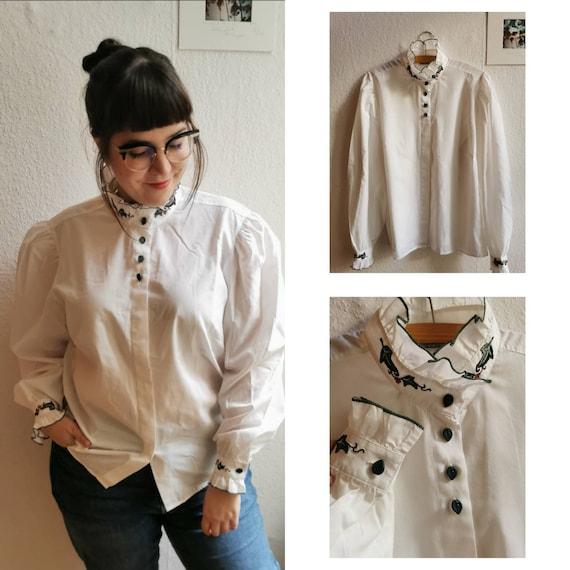 Original 80's german folklore blouse