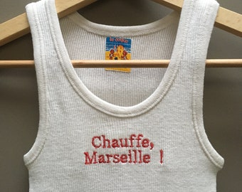 Embroidered 8/18 year old tank top