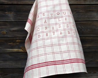Embroidered plaid torchon
