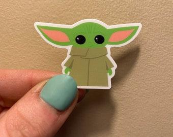 Baby Yoda Sticker   Vinyl Sticker   The Yukon Co  