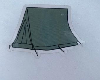 Tent sticker   Hydroflask Sticker   Camping sticker   The yukon Co sticker