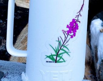Fireweed Sticker   Flower sticker   Outdoor sticker   Hydroflask sticker   The Yukon Co sticker