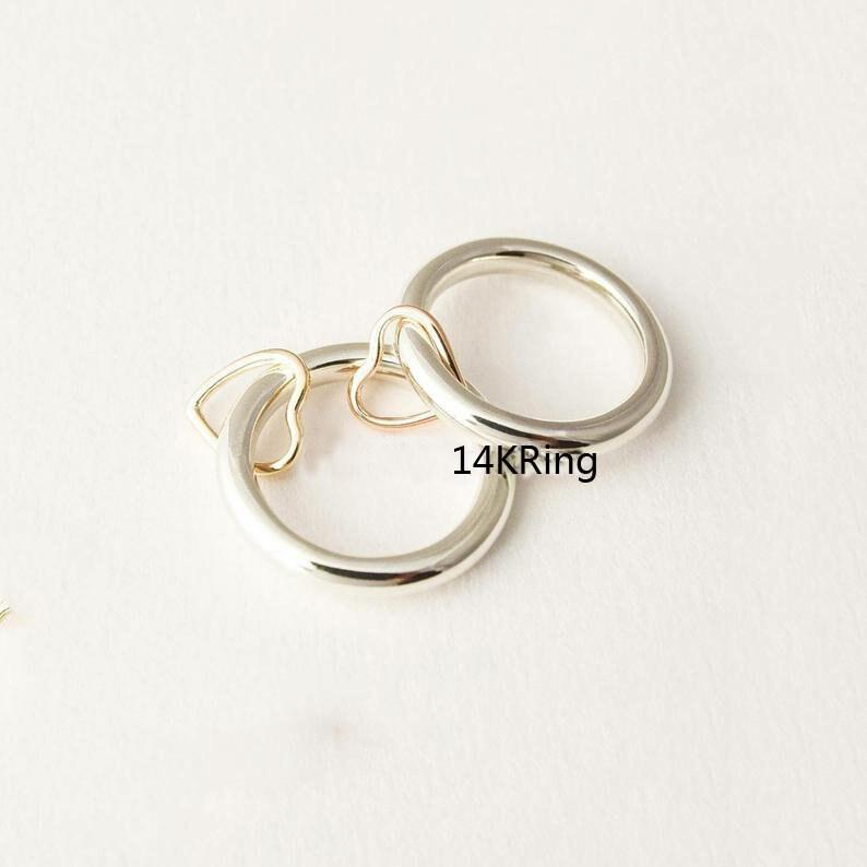 Heart Ring Gift For Her Women Ring Meditation Ring Spinner Ring 925 Silver Ring Boho Ring Promise Ring Worry Ring Dainty Ring