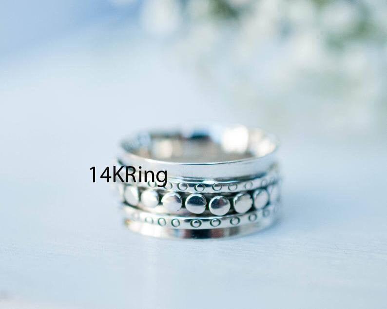 925 Silver Ring Designer Ring Spinner Ring Meditation Ring Thumb Ring Women Ring Promise Ring Fidget Ring Worry Ring Gift For Her