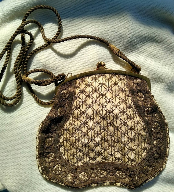 1930's Art Deco Lace Purse