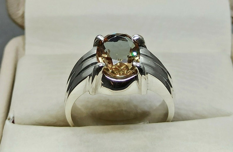 Alexandrite Ring Sterling Silver 925 Handmade Color Changing Gemstone Mens RingAntique Style Large Mens Ring For Engagement /& Weeding