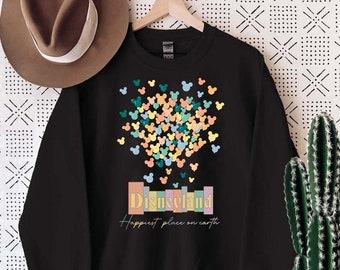 Disneyland shirt, Happiest place on earth shirt, Disney world shirt, Disney balloon shirt, Disneyland shirt for women/men, HA-080701