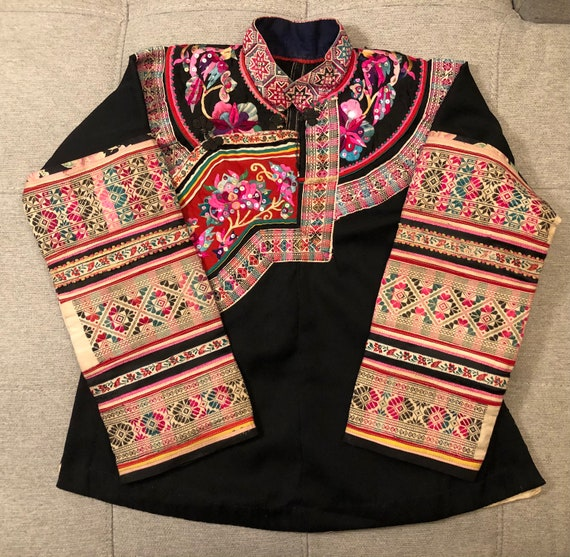 Vintage Hmong Chinese Shirt Jacket