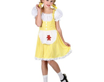 Girls Goldilocks Costume S M L Kids Fairytale Three Bears Fancy Dress Halloween