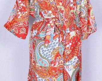 Women Kimono Bridesmaid Bath Robes Kaftan Beach Dress Party Wear Hippie Women Knight Dress Bohemian