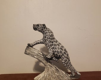 Vintage Soapstone leopard