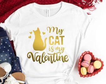 At Least My Cat Loves Me Sweatshirt Cat Valentine Off the Shoulder Sweatshirt Valentines Day Gift for Cat Lovers Cute Cat Sweatshirt