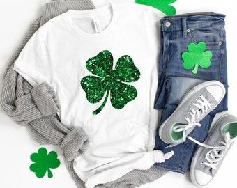 Patricks Day Womens Short Sleeve Cute Anime Crewneck T Shirt Shirts Tops Blouse Tees Irish Green Clover Heart St
