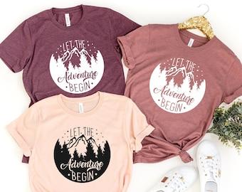 Let The Adventure Begin Shirt, Gift for Travel Lover, Gift for Adventurer , Wildlife Shirt, Vacation Shirt, Nature Lover Shirt, Camper Shirt