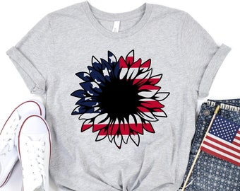 4th of July Sunflower Shirt,Freedom Shirt,Fourth Of July Shirt,Patriotic Shirt,Independence Day Shirts,Patriotic Family Shirts,Memorial Day