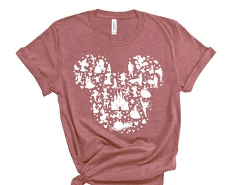 Disney Shirt, Disney Shirt for Women, Disney Ear Shirt, Women's Unisex Disney T-Shirt, Disney Mickey Silhouette Shirt, Tshirt for Kids