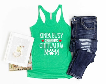 Chihuahua Gift Gym Top Gift For Her Leopard Chihuahua Leopard Tank Racerback Chihuahua Owner Ladies Gym Tank Chihuahua Tank Top