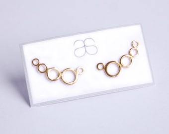 Rose Gold plated Sterling Silver Ear climbers
