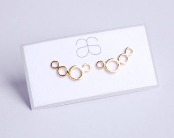 Yellow Gold plated Sterling Silver mini Ear climbers