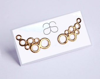 Rose Gold plated sterling silver ear climbers ear crawlers