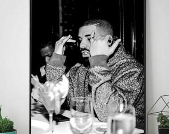 Drake Music Rapper Hip Hop Black White Giant Wall Art Poster Print