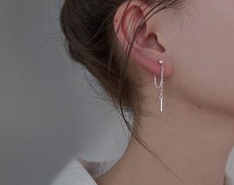 Contemporary jewels Women/'s silver design Button earring Small silver earring Min\u00ed women/'s earrings Geometric jewelry